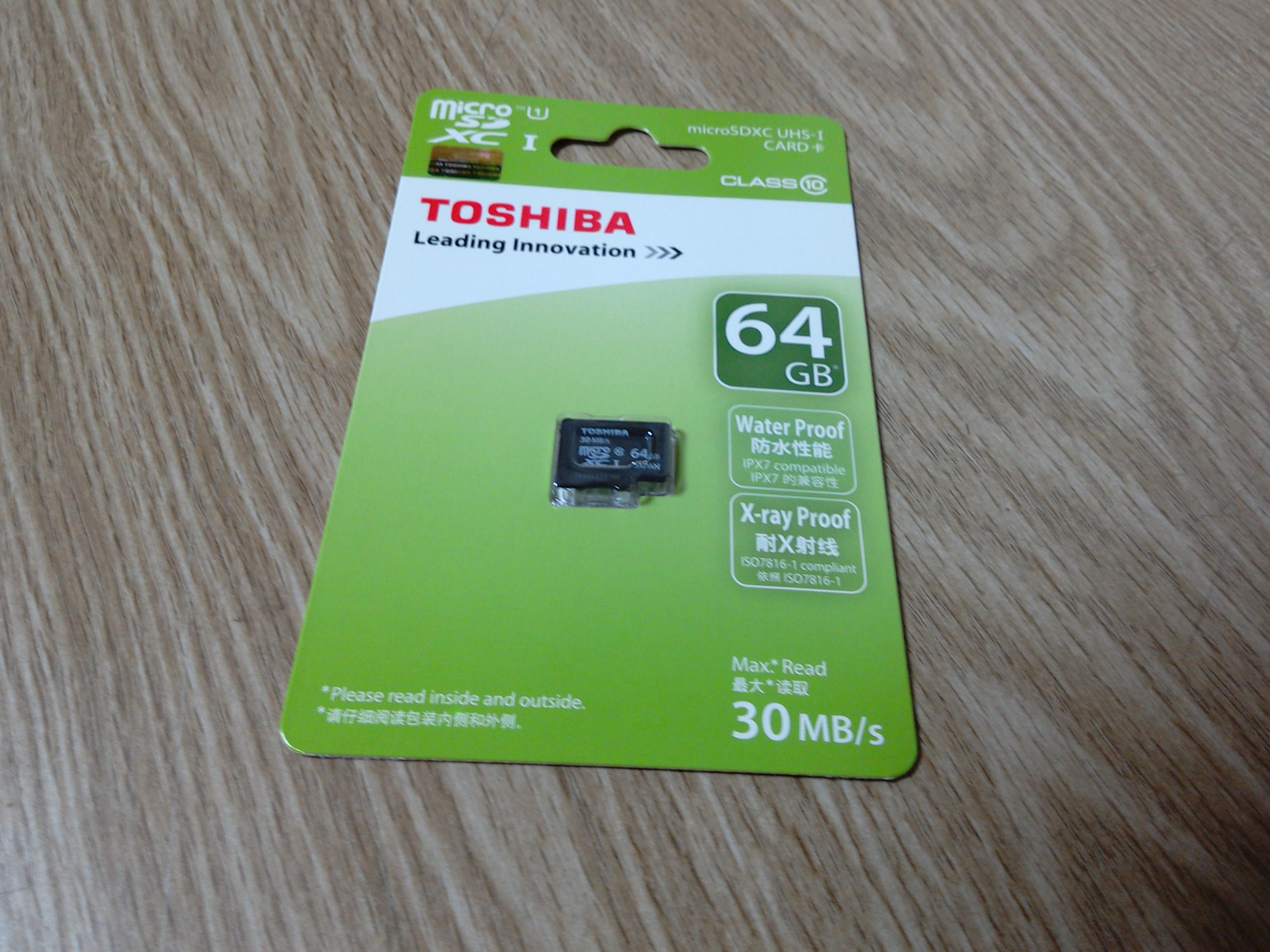 TOSHIBA SDカード 64GB