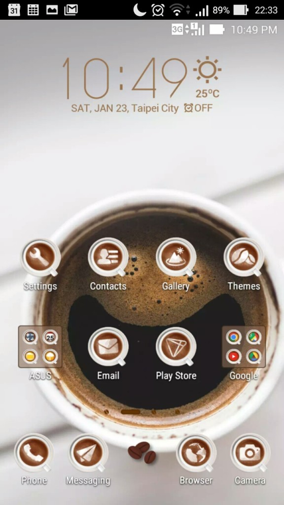 Zen UI coffee time