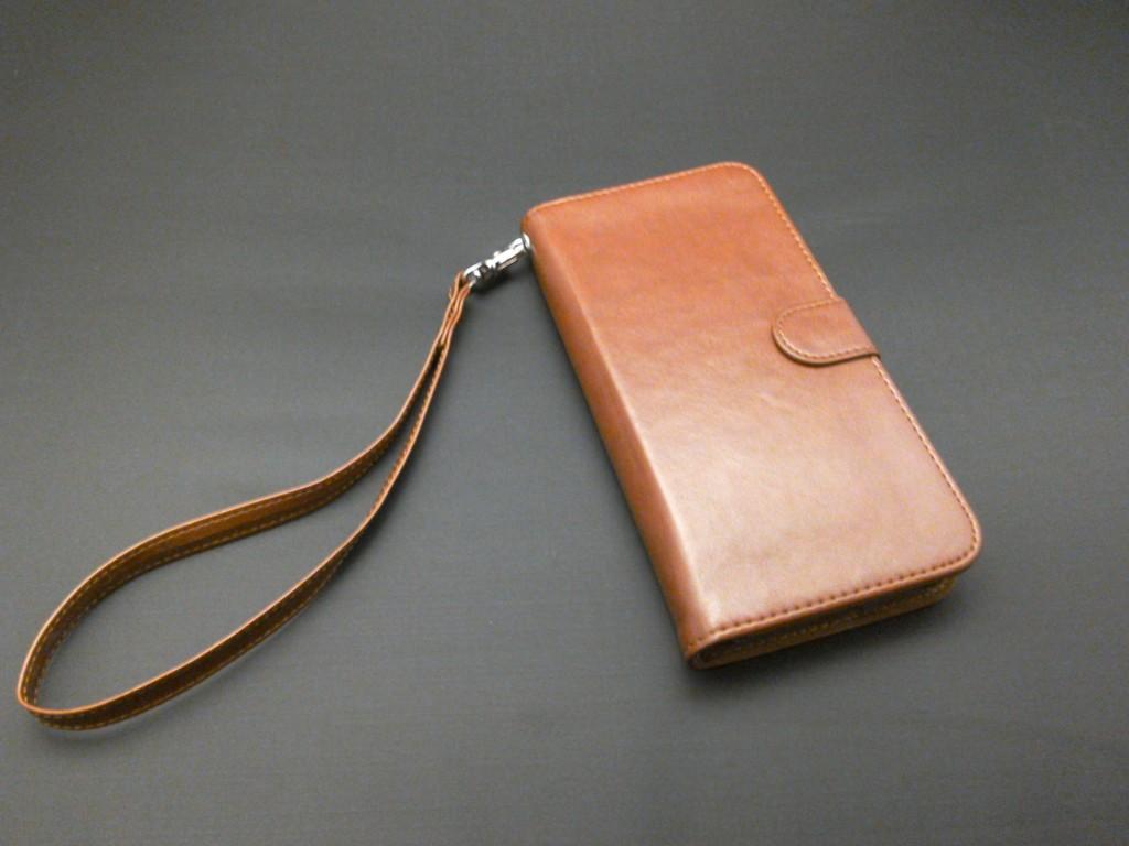 ストラップ付き手帳型スマホケース