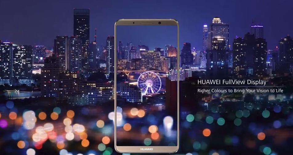 HUAWEI Mate 10 Pro Full Viewディスプレイ(出典 HUAWEI公式サイトより)