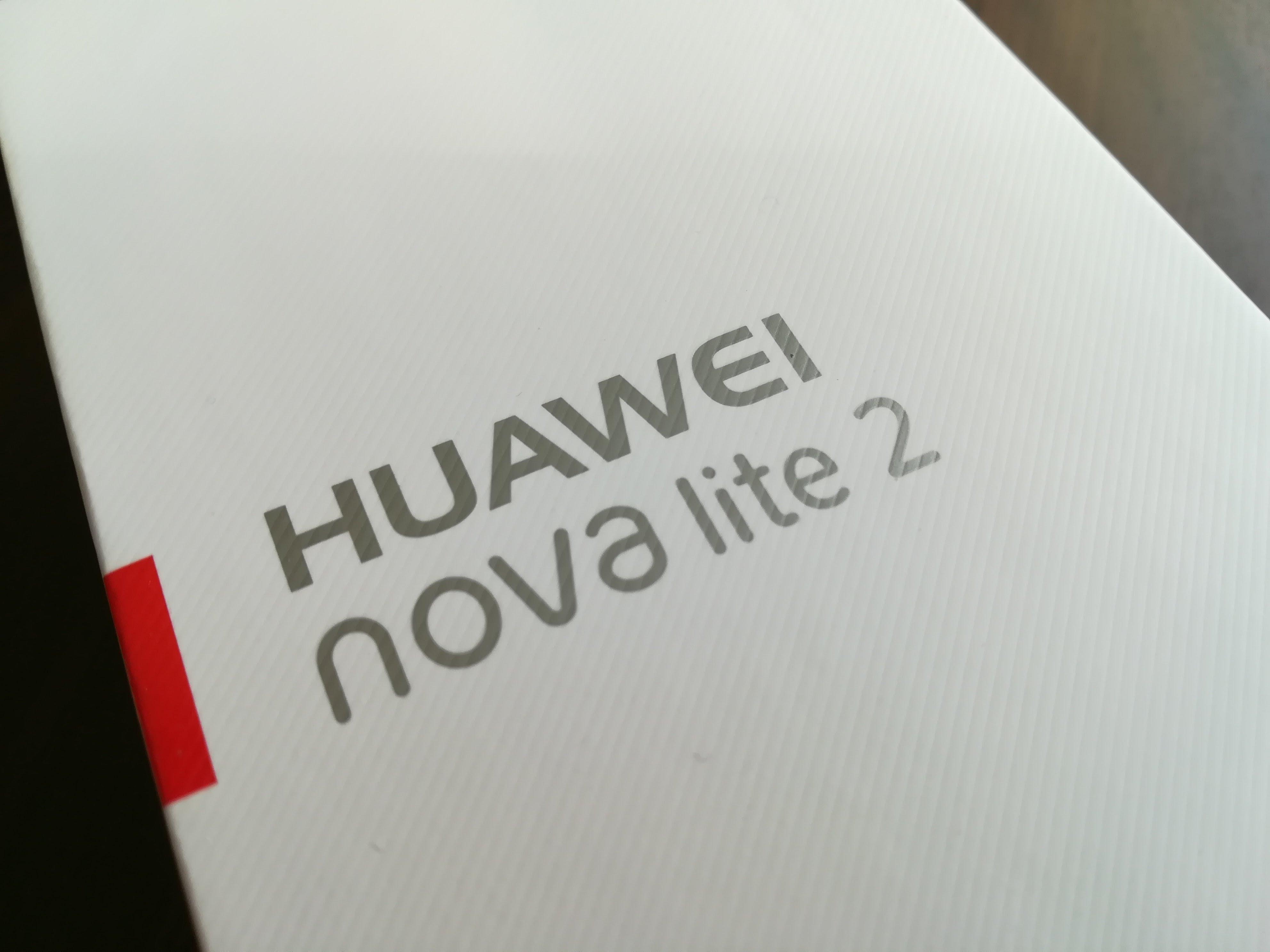HUAWEI nova lite 2の箱
