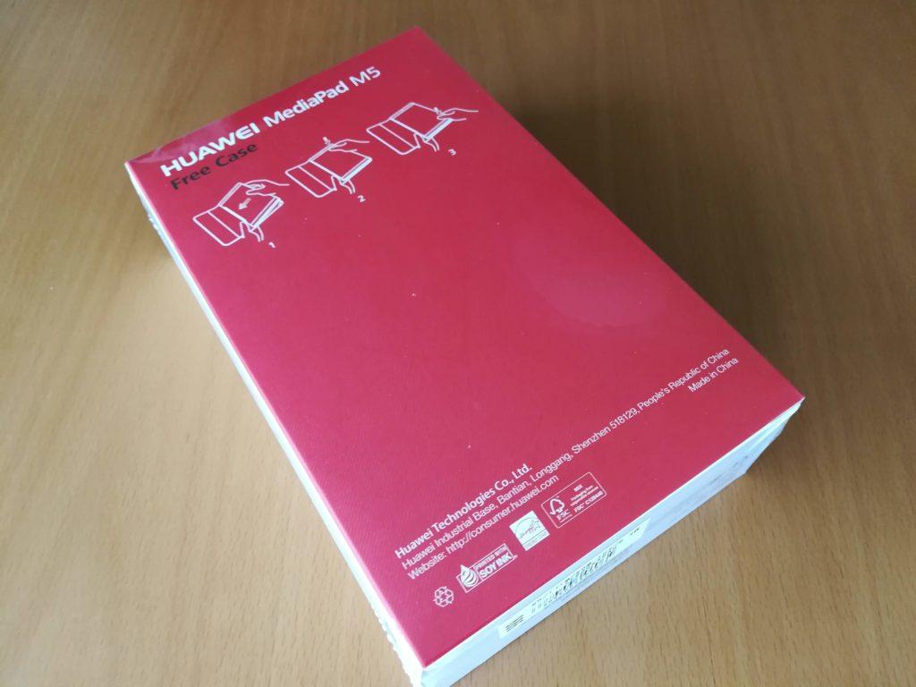 HUAWEI MediaPad M5の外箱の裏面