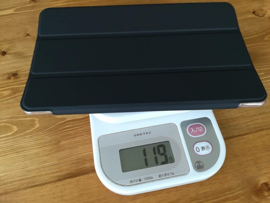 HUAWEI MediaPad M5のケースの重量。