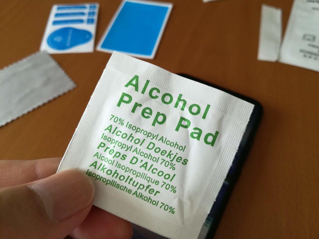 P20 lite 液晶保護 アルコールパッド