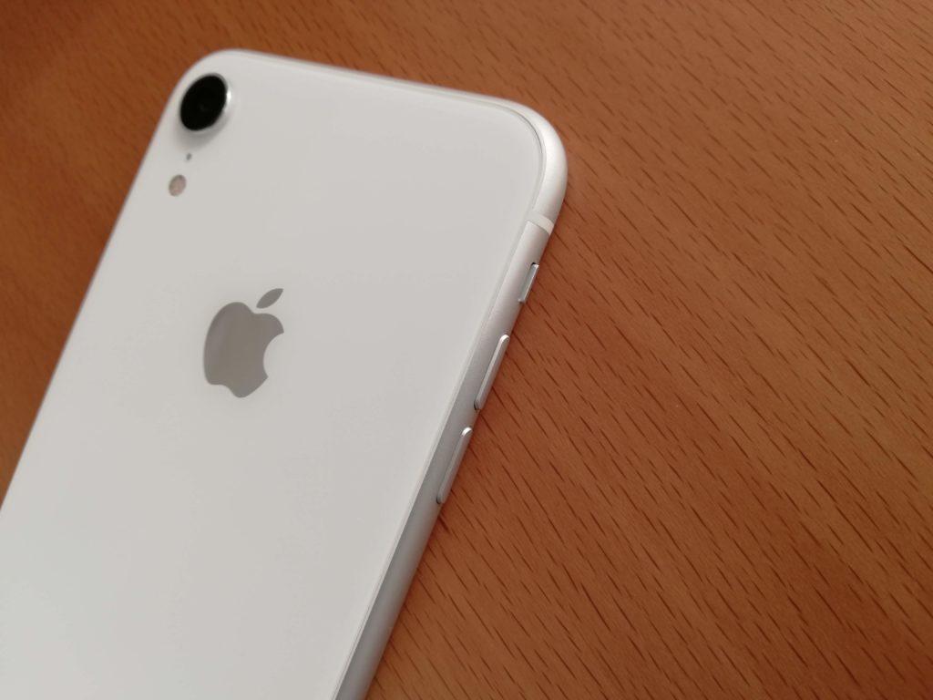 ホワイトのiPhone XR