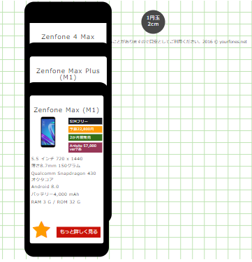 Zenfone Maxシリーズを縦に並べてみる