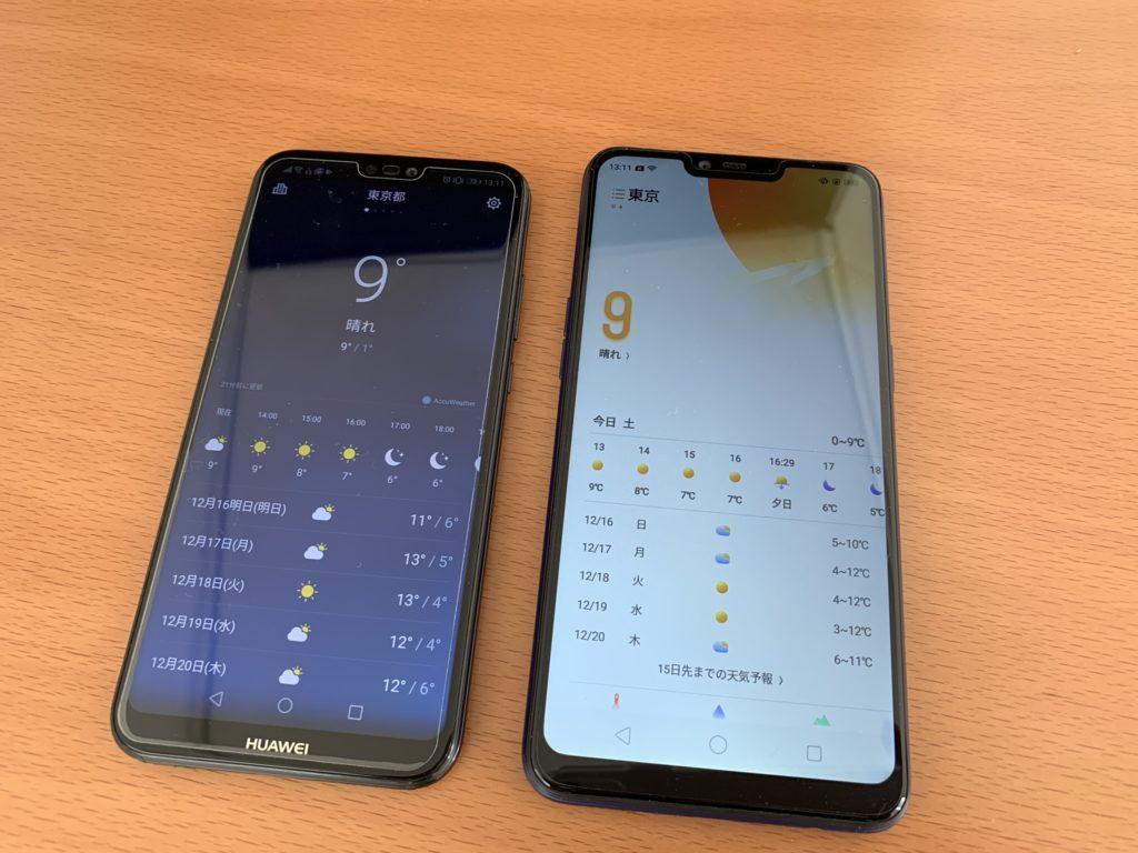 天気アプリを比較