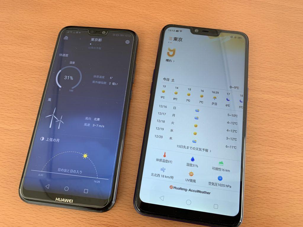 天気アプリ比較