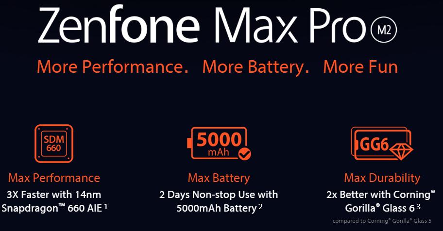 Zenfone Max Pro M2(出典:ASUS公式サイトより)