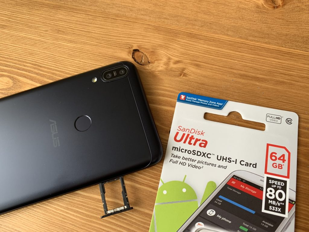 Zenfone Max Pro M1でSDカードを試してみた