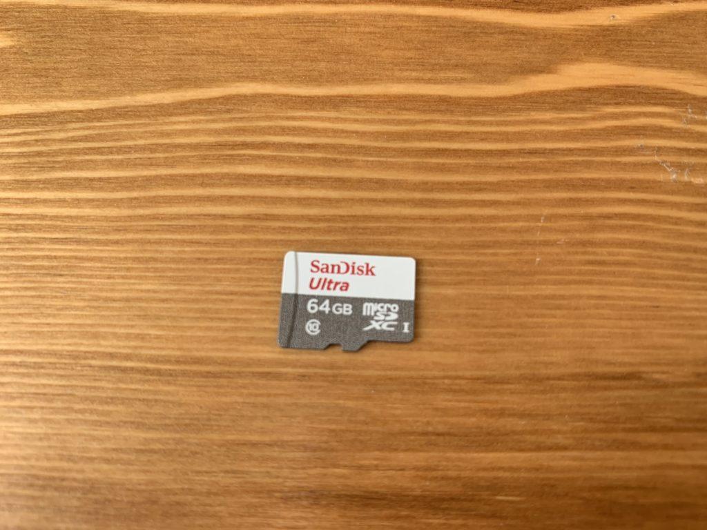 SanDiskのmicroSDカード