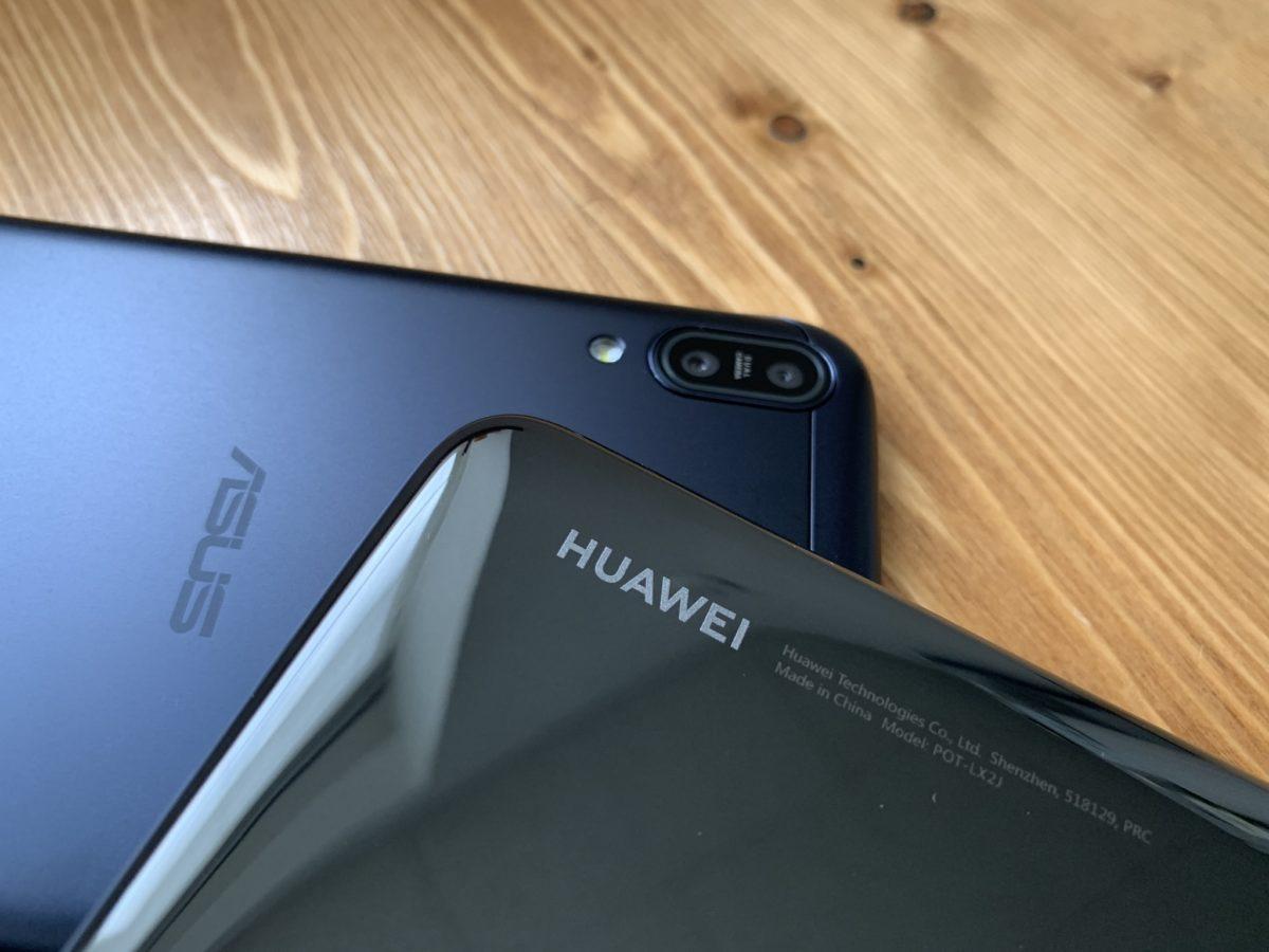 nova lite 3とZenfone Max Pro M1を実際に比較!本体やディスプレイなど。