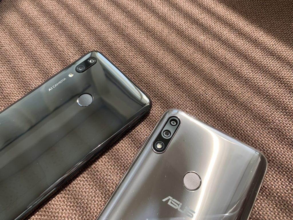 左がnova lite 3で右がZenfone Max Pro M2