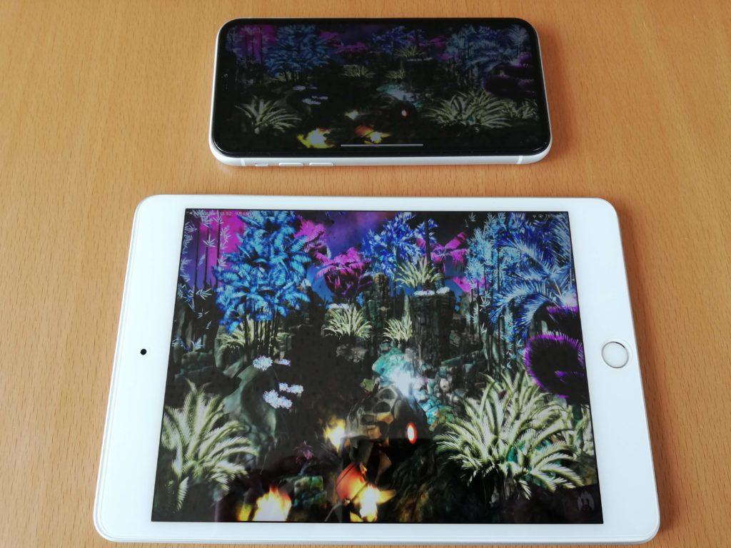 iPad mini 5 2019とiPhone XRでAntutuを実行