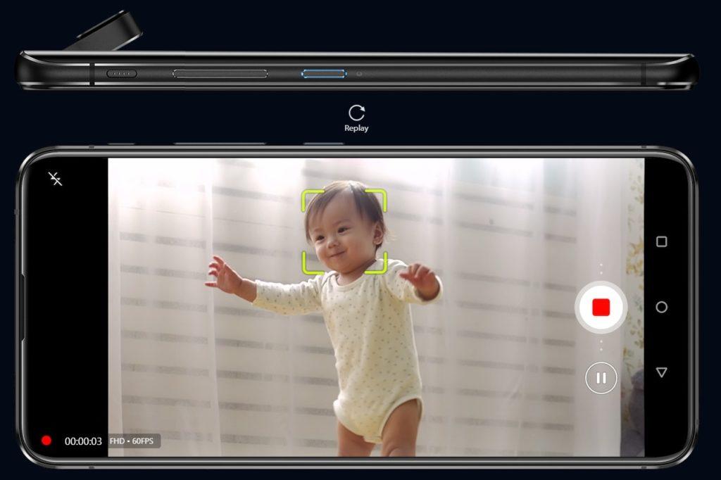 Zenfone 6は赤ちゃんを捕まえる(出典:ASUS公式サイト)