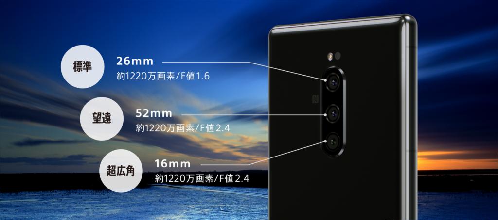 Xperia 1はトリプルレンズカメラ(出典:ソニーモバイル公式サイト)