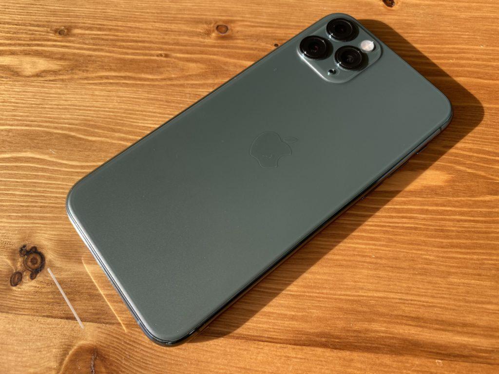 ミッドナイトグリーンのiPhone 11 Pro