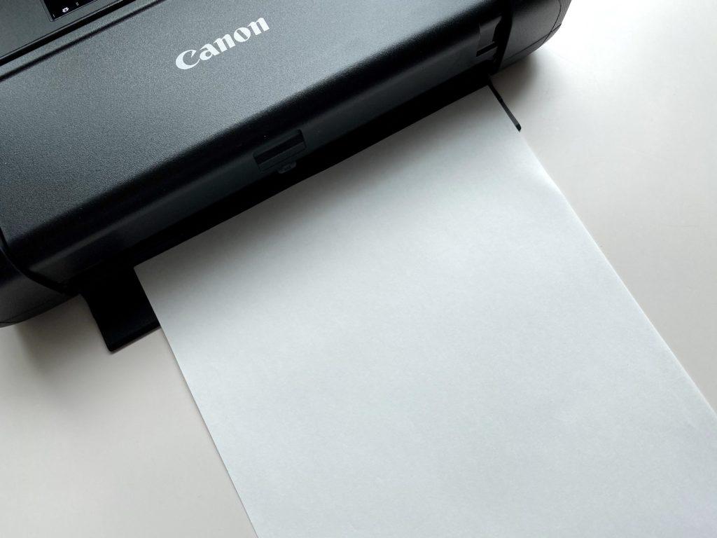 Canon TR153 用紙が出てくるところ