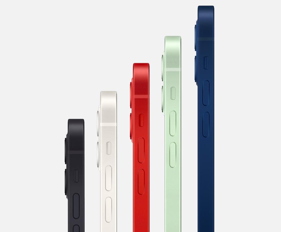 iPhone 12は全部で5色