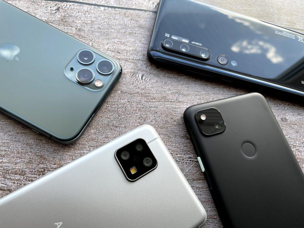 AQUOS sense4とPixel 4aとiPhone 11 ProとXiaomi Mi Note 10のカメラを比較