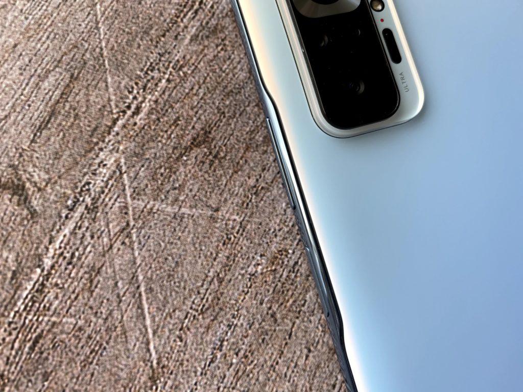 Redmi Note 10 Proのボタン周辺のデザイン
