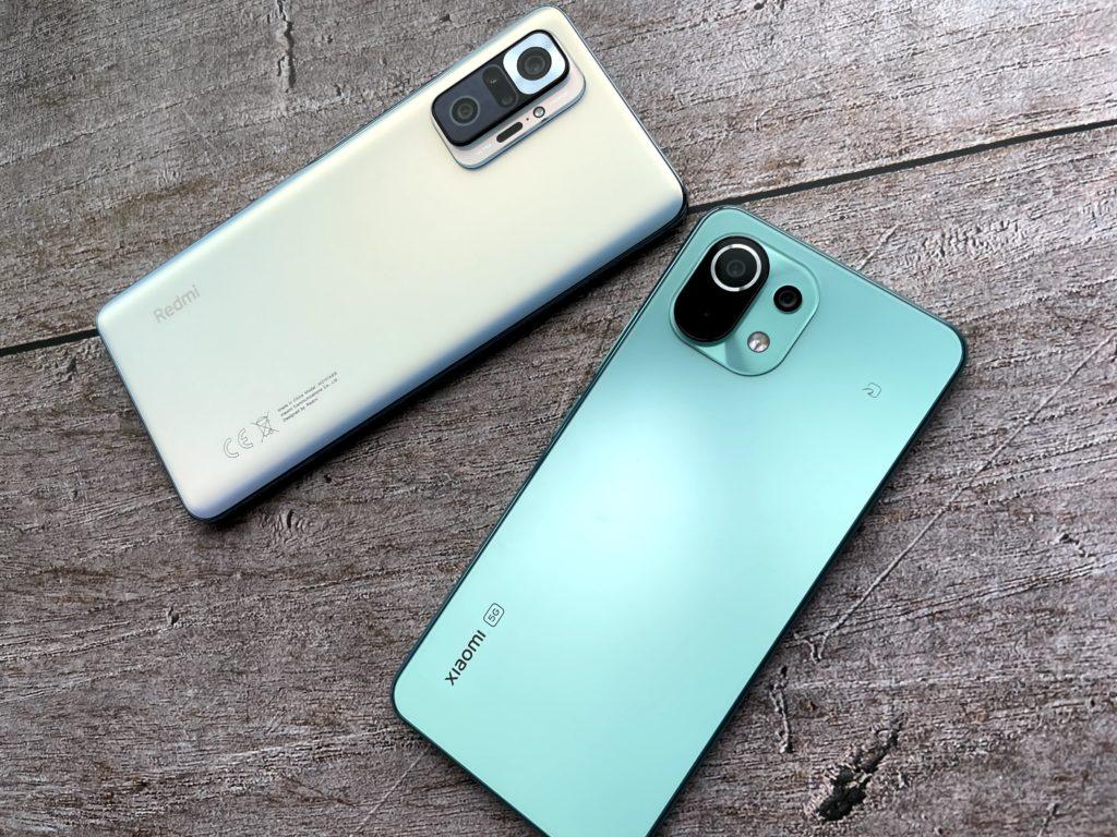左はRedmi Note 10 Proで右はMi11 Lite 5G
